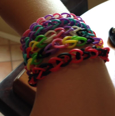 Rainbow Loom Triple Single Bracelet This Bracelet Is My Best Sell ...