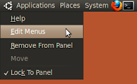 Ubuntu menu bar