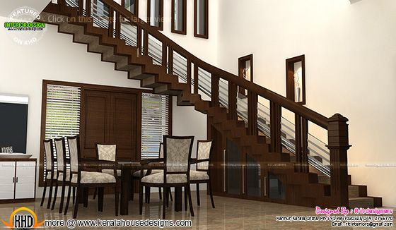 Staircase and dining