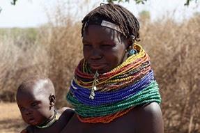 Madre e hijo Nyangaton