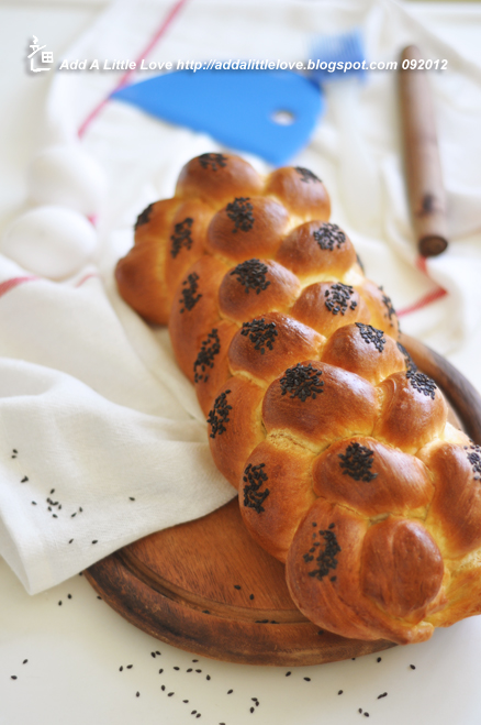 Classic Challah Braided from 6 Strands