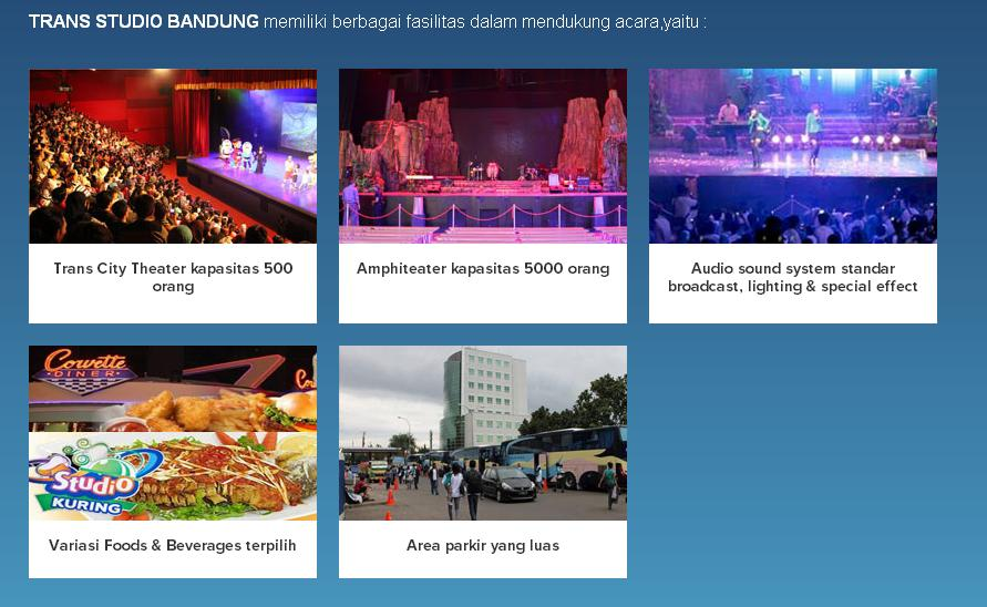 Fasilitas Wisata Bandung Trans Studio