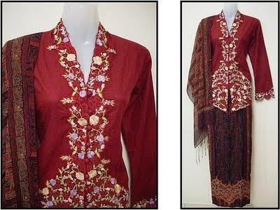 Foto Model Baju Kebaya Nyonya Melaka
