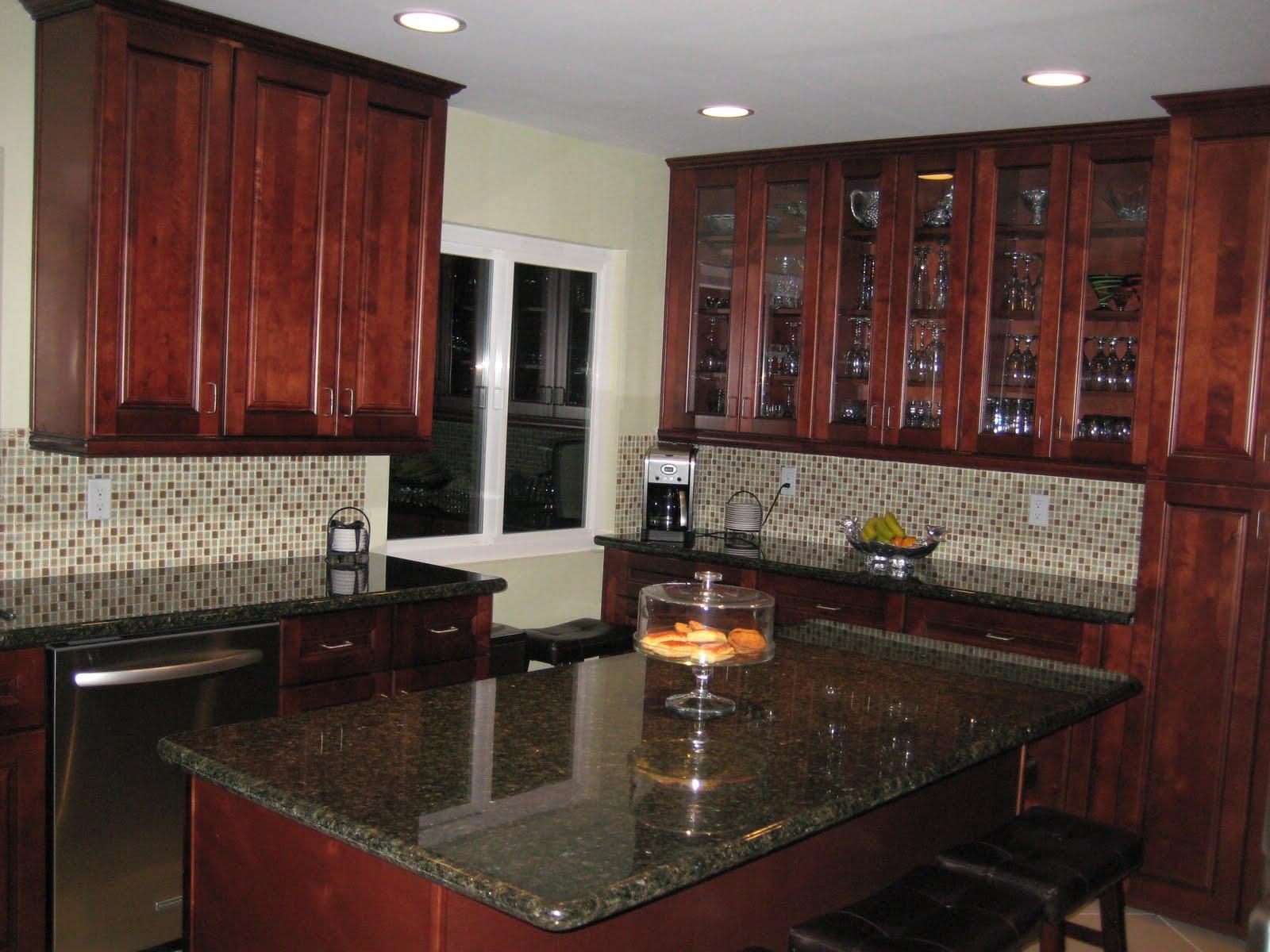 Dark Cherry Maple Cabinets