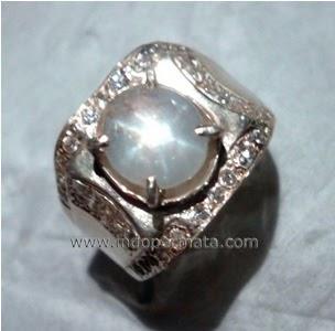 Batu Permata White Sapphire Star Ceylon-batu mulia-natural-asli-murah