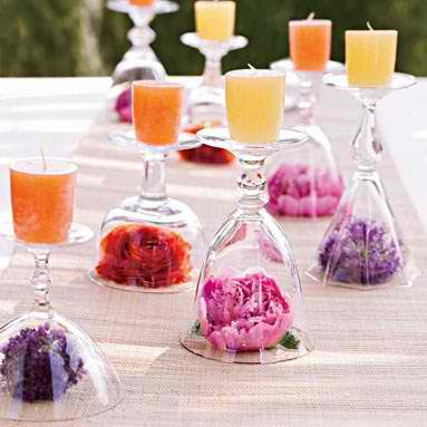 Love My Weddings Wine Glasses For Centerpiece