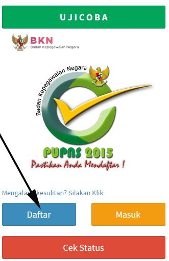 GAMBAR PANDUAN PENGISIAN PUPNS 2015