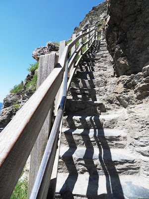 Steps to Tintagel Castle