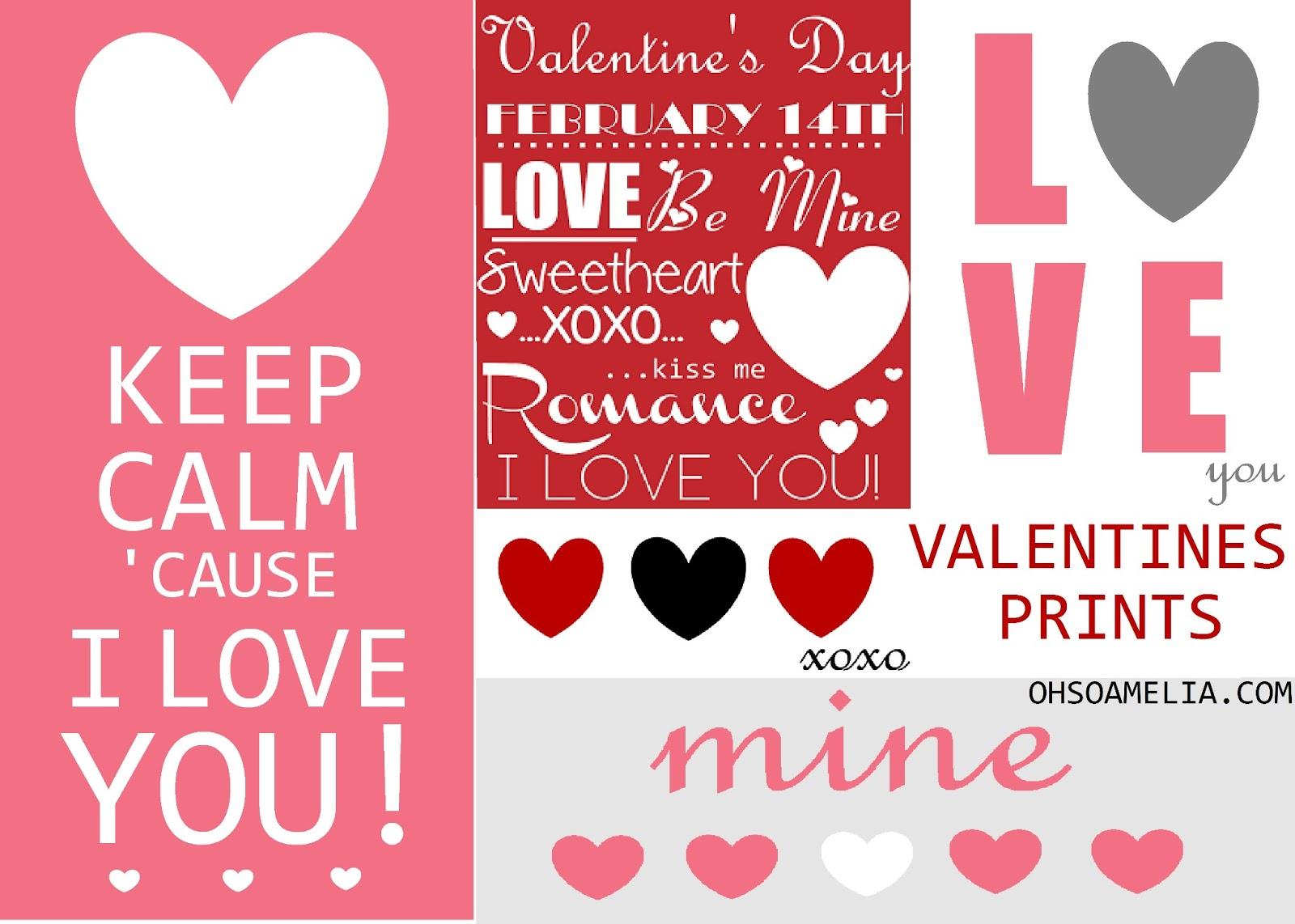 free valentine u0027s prints oh so amelia