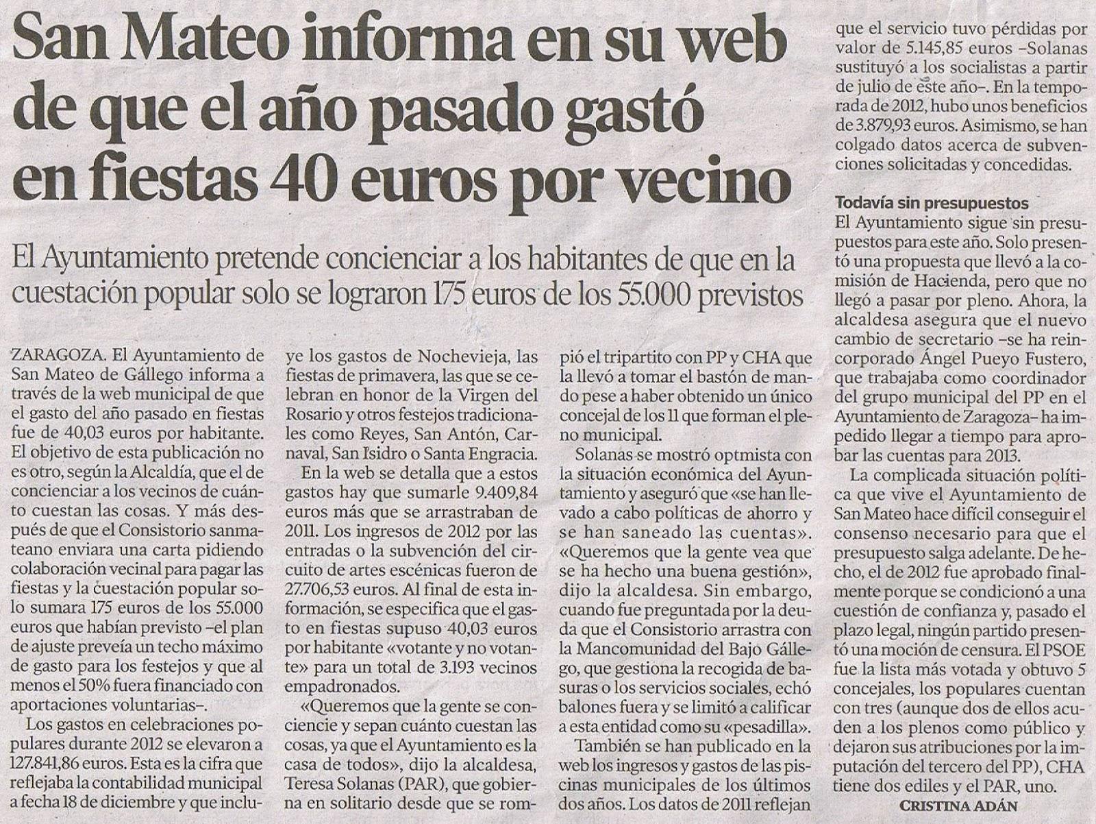 El blog de san mateo de g llego heraldo web municipal - El tiempo en san mateo de gallego ...