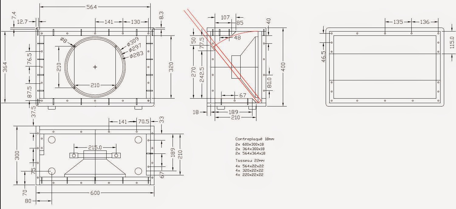 Find here below the cabinet mechanical drawings (AutoCAD was used but open  source LibreCAD can also be used)