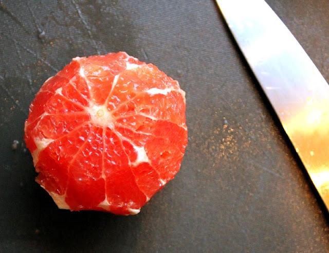 Oppskrift Enkel Sunn Salat Grapefruktfileter Hvordan Filetere Grapefrukt