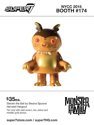 "New York Comic Con 2015 Exclusive Monster Family ""Harvest Hangout"" Steven the Bat Vinyl Figure by Super7 & Bwana Spoons"
