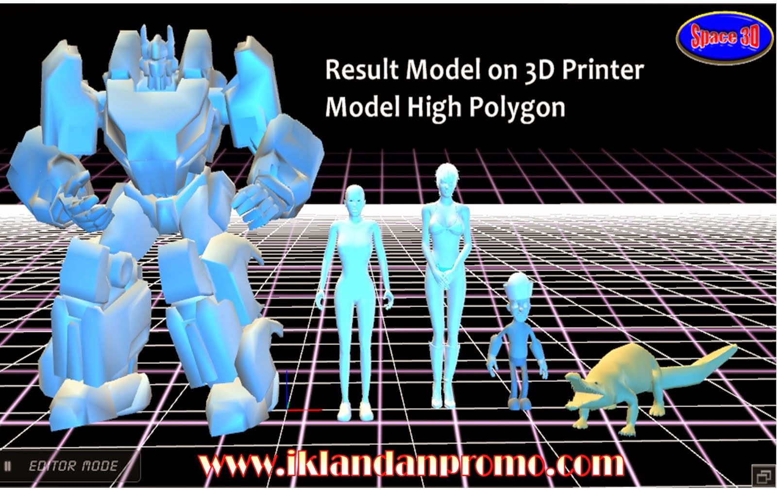 Jasa Pembuatan Model Karakter 3D Printer