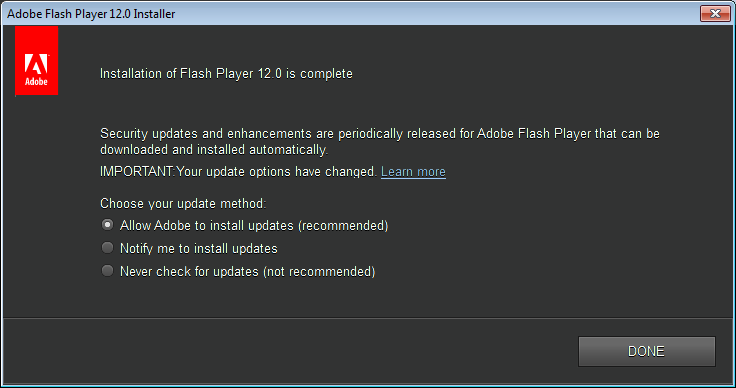Download Flash Player v12.0 Update Terbaru Offline Installer (17 MB)