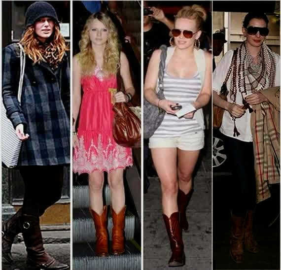 Womens Celebrities Fashion Cowboy Boots