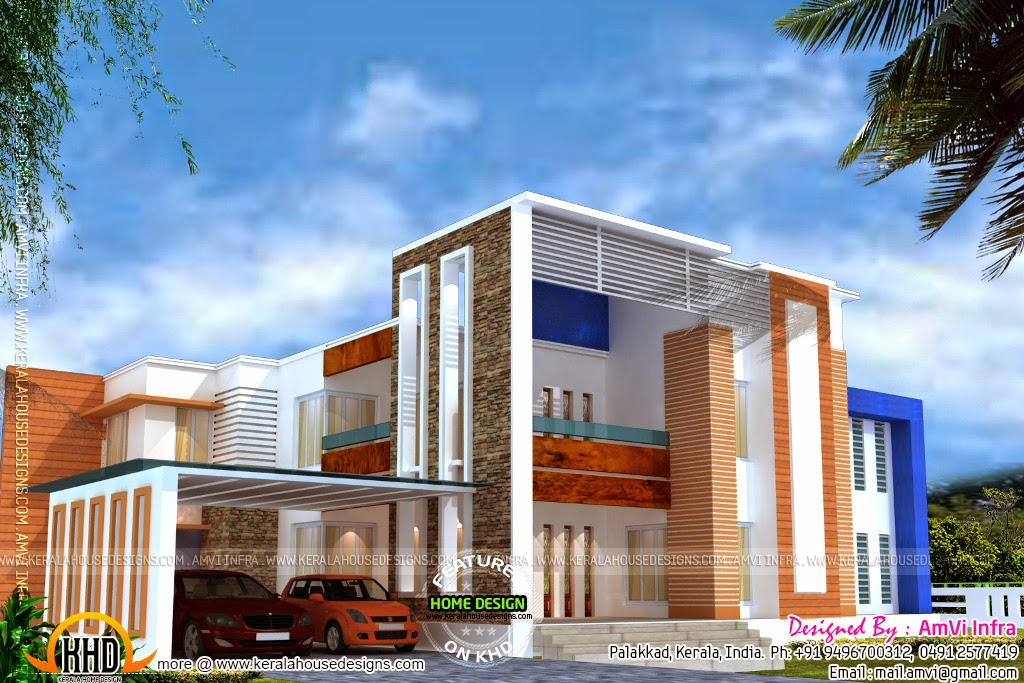 Luxury House Floor Plan And Elevation Kerala Home Design