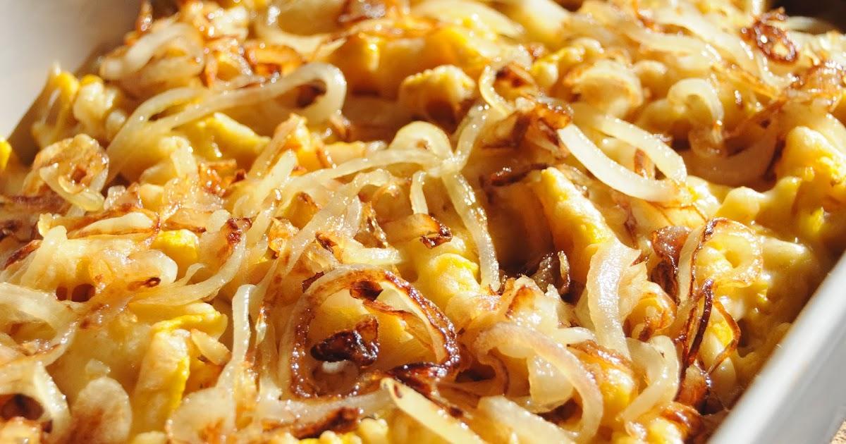 Kürbisspätzle mit Käse und Röstzwiebeln