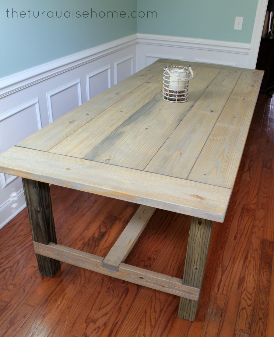 DIY Farmhouse Table for less than 100 The Turquoise Home : table3 from theturquoisehome.com size 900 x 1106 jpeg 211kB