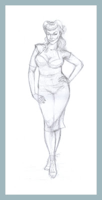 pin-up wife sketch