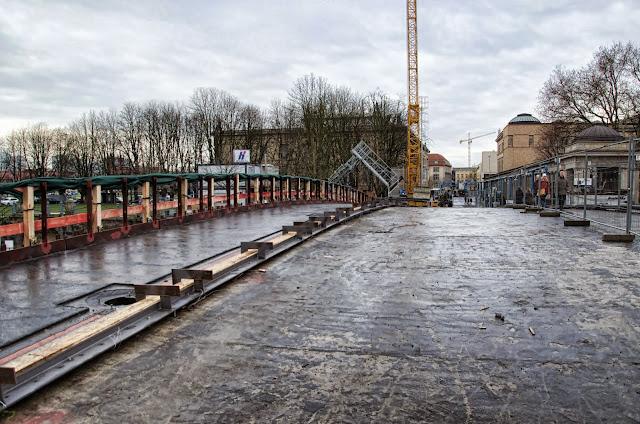 Baustelle Museumsinsel, Friedrichsbrücke, Brückensanierung, Bodestraße, 10178 Berlin, 22.12.2013