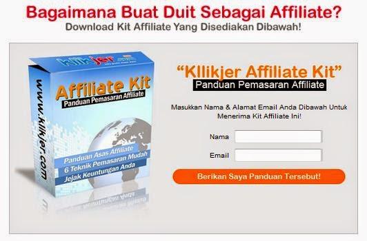 Program Affiliate Klikjer Peluang Tambah Pendapatan