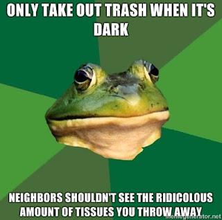 foul bachelor frog tissues