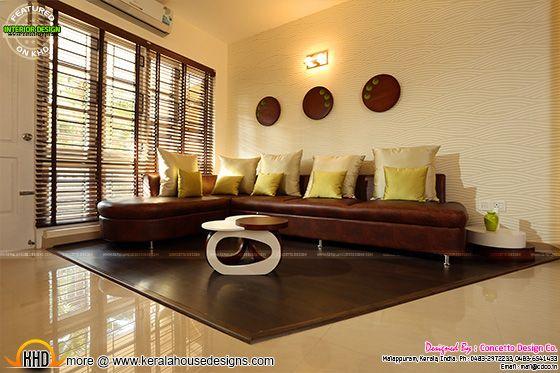 Flat Living room interior