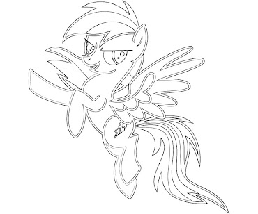 #4 Rainbow Dash Coloring Page