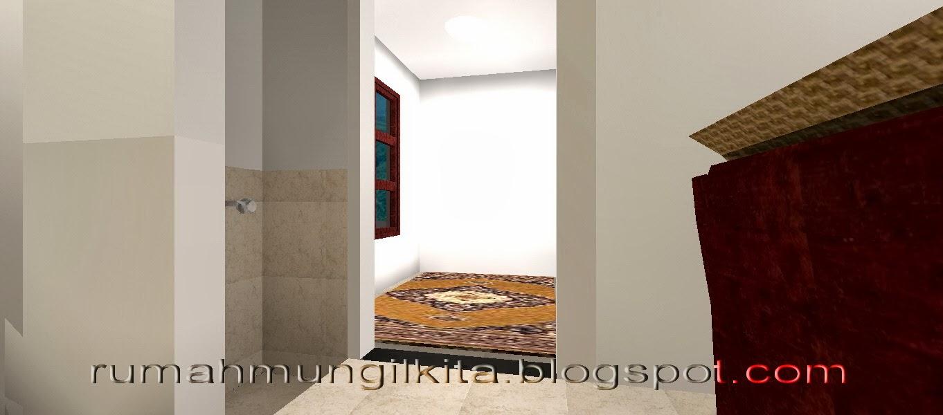 rumah lebar 4 meter, 3 kamar tidur - Ruang sholat