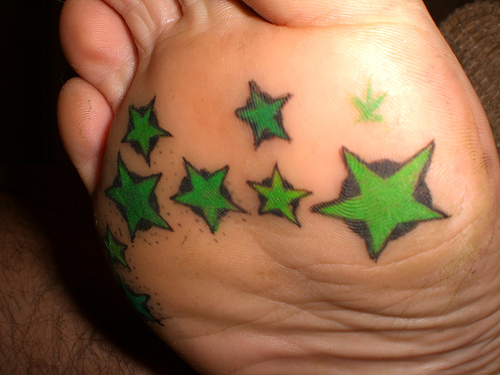 Green Star Tattoo Designs