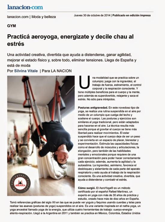 Yoga Aerien Presse et Télévision
