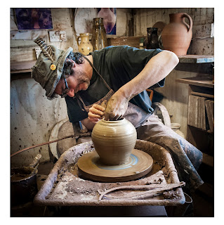 Potter in his studio, Doug Fitch