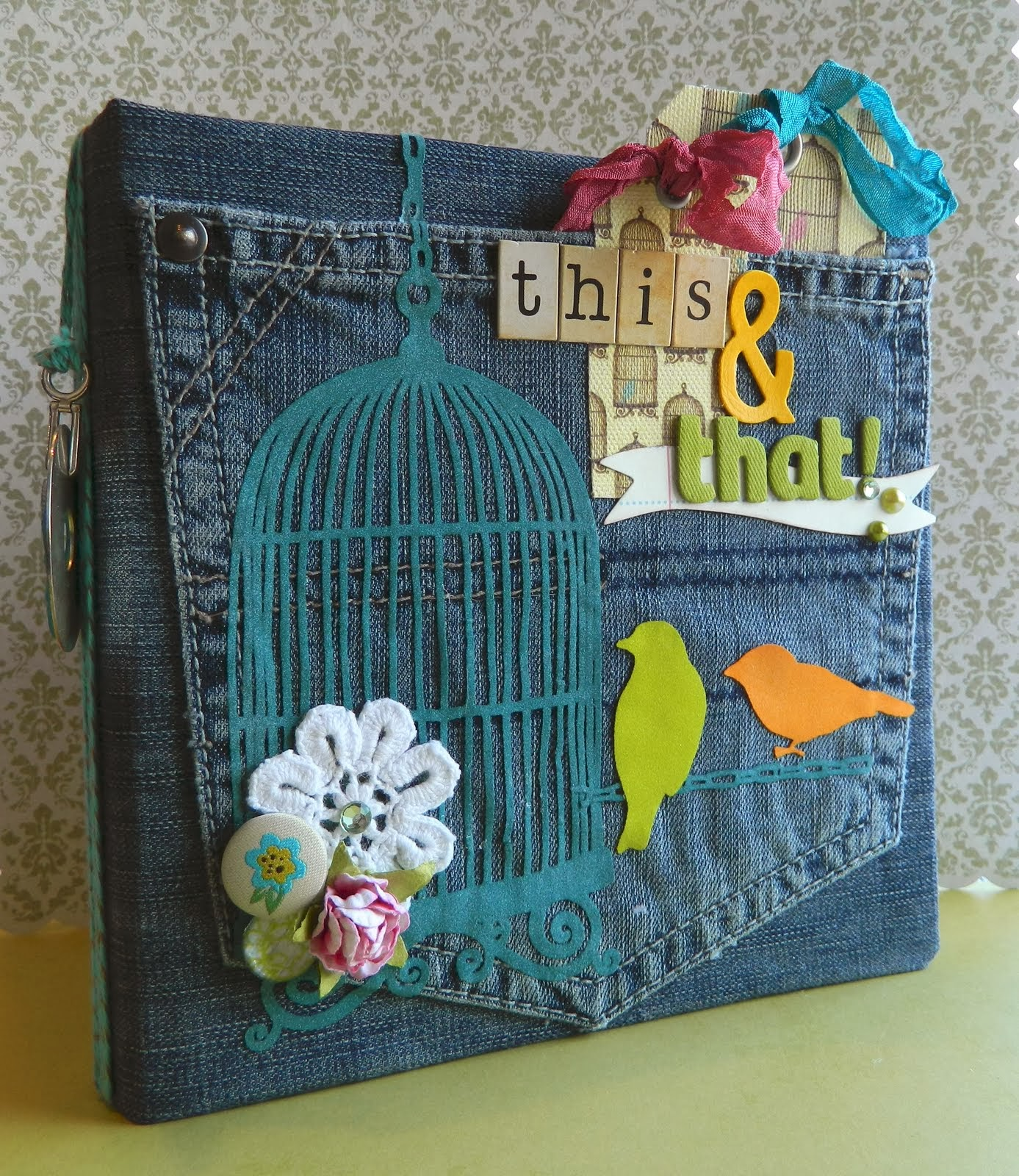 Scrapbook ideas recycled - Old Jeans Reuse Bag