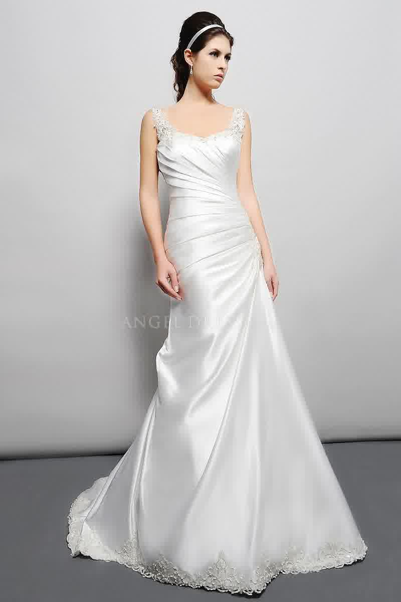 Bridal wedding inspiration simple silk wedding dresses trend for Satin silk wedding dresses
