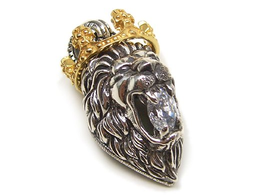 Lionheart Pendant Biker jewelry and leather ezine lion heart jewelry pendants really caught our attention especially the lion with a gold crown and clear stone in its mouth view the entire collection now at lion heart audiocablefo