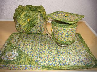 annis artesanato mug rug verde
