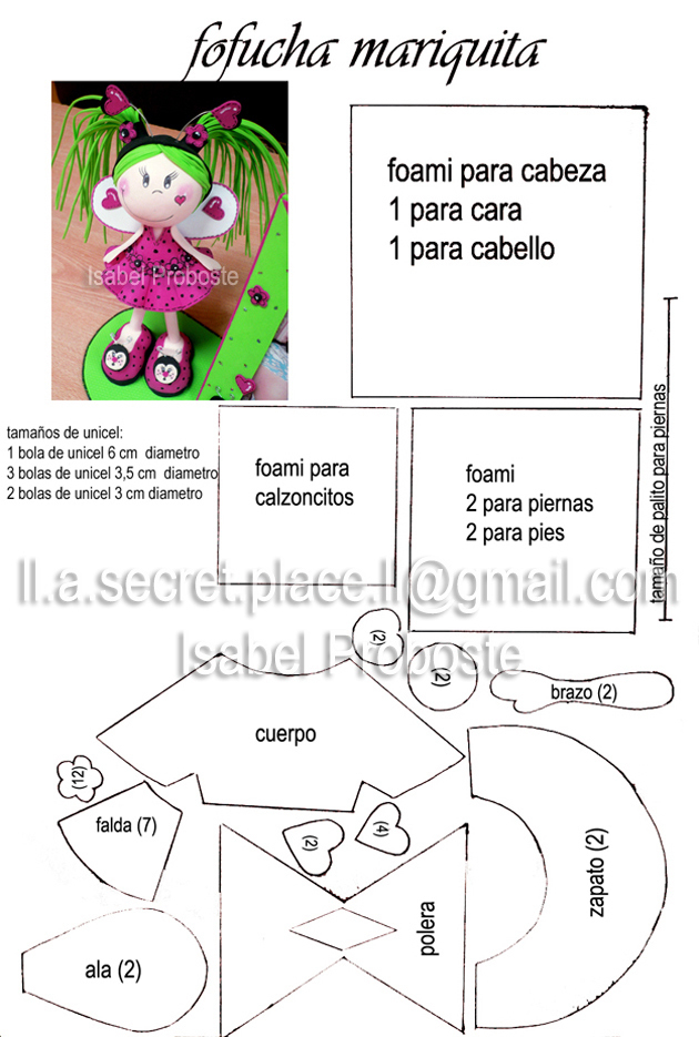 Molde fofucha mariquita