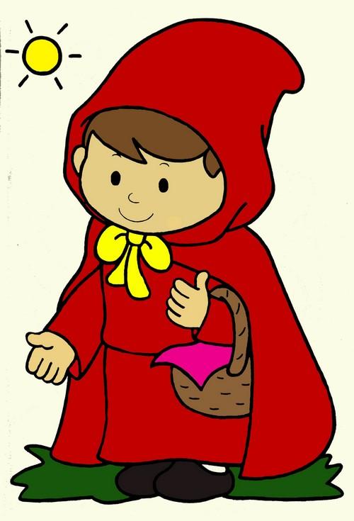 Poetizzando disegni da colorare cappuccetto rosso