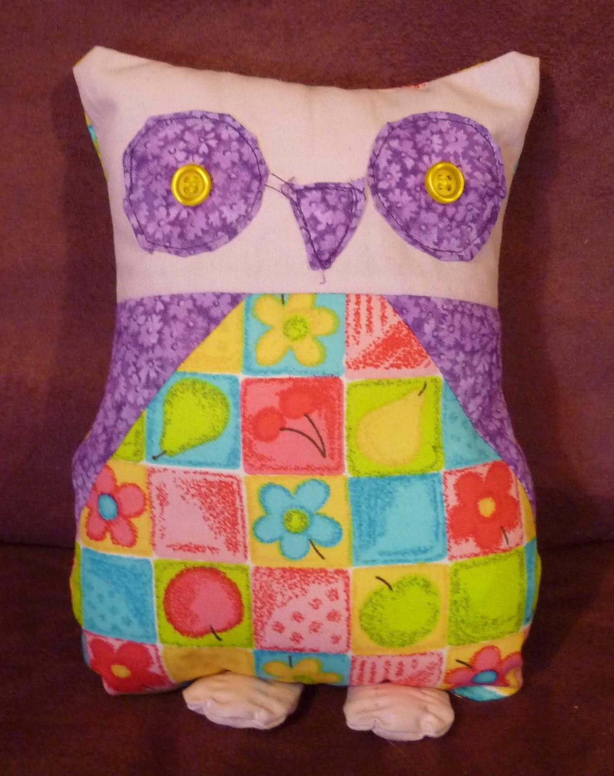 Patchwork Owl Cake