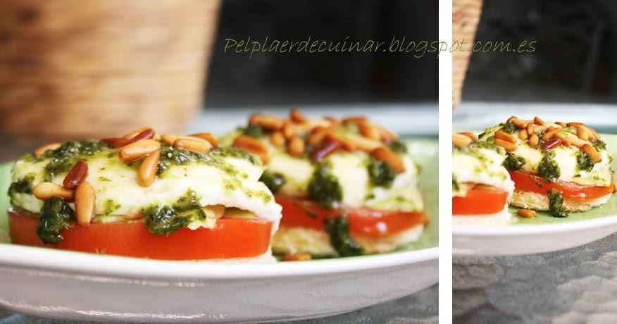 Pel plaer de cuinar canap s de mozzarella amb alvocat for Mozzarella canape