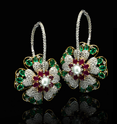 Gulmohar the Art of White Gold Jewellary collection 2013
