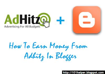 earn money blogging online from AdHitz