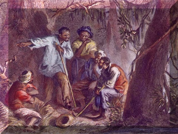 Painting of Vesey plotters