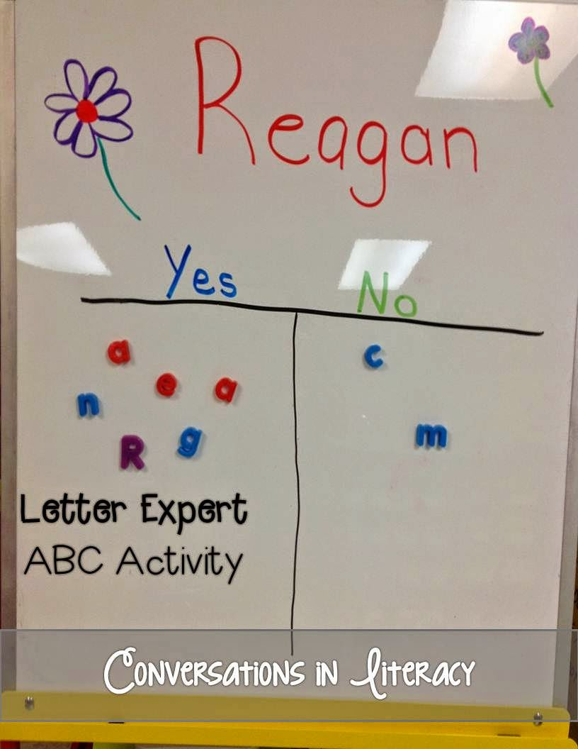 I Am A Letter Expert!  ABC Activity