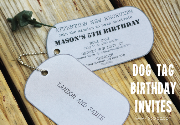 Army Themed Birthday Party Inspiration Made Simple – Dog Themed Birthday Party Invitations
