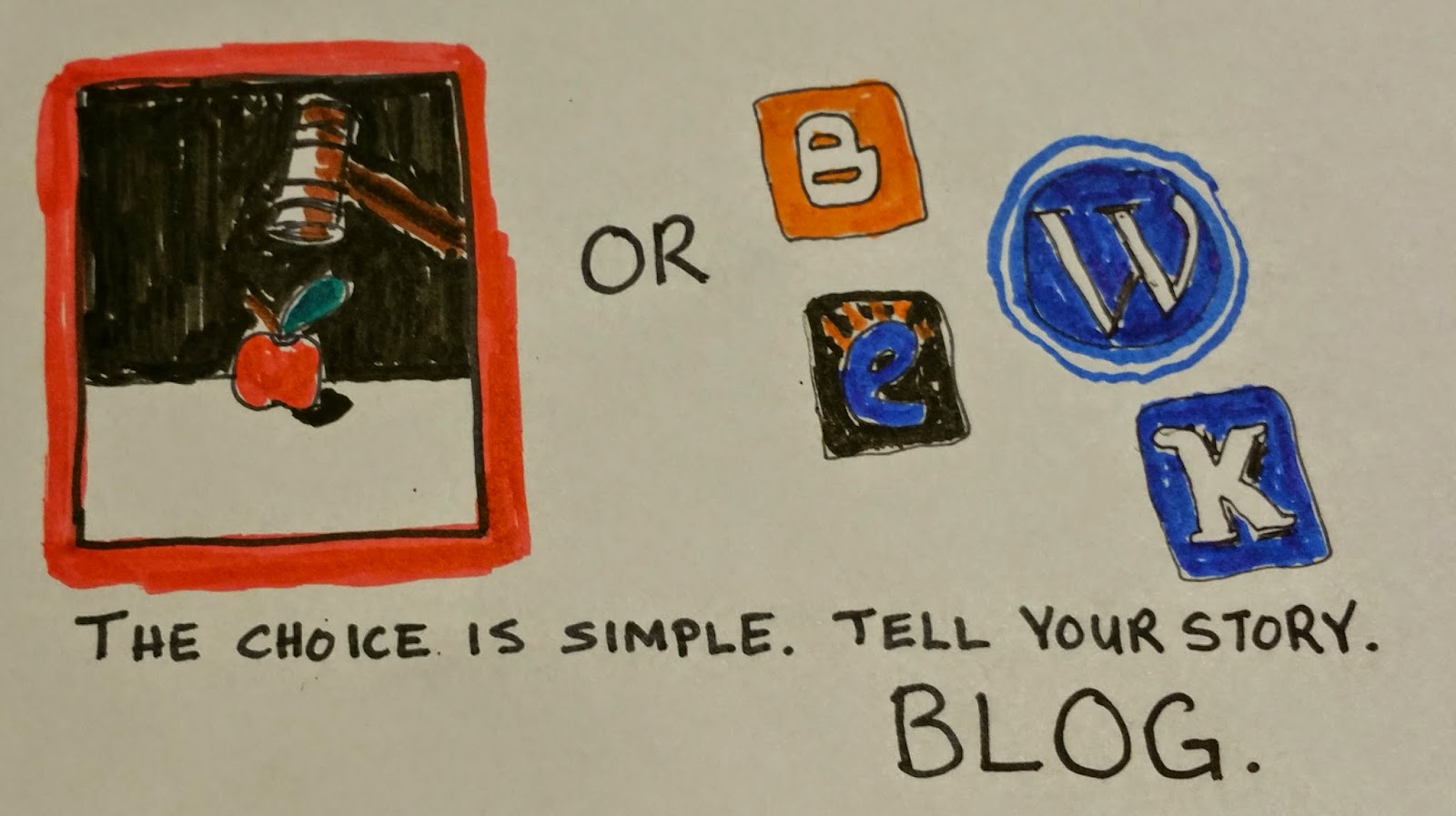 The Choice is Simple. Tell Your Story. Blog.
