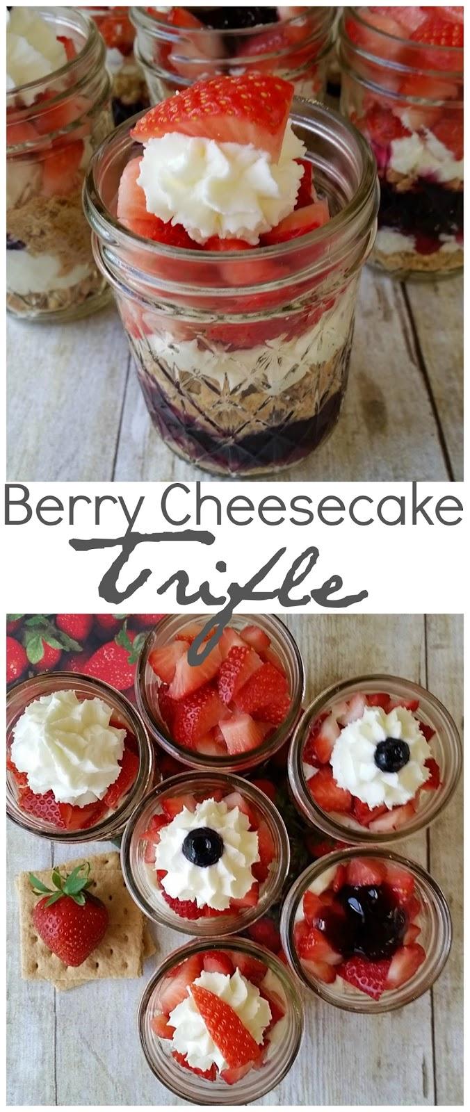 berry cheesecake trifles