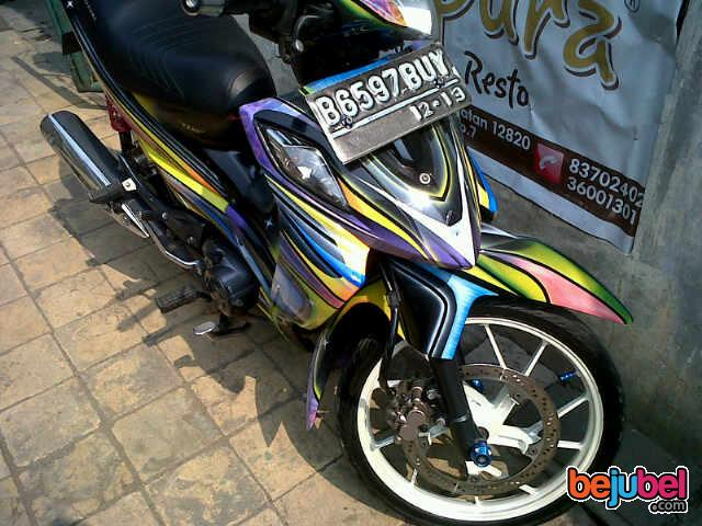 Suzuki Shogun Airbrush Modifikasi