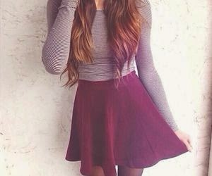 Maroon High Waisted Skirt